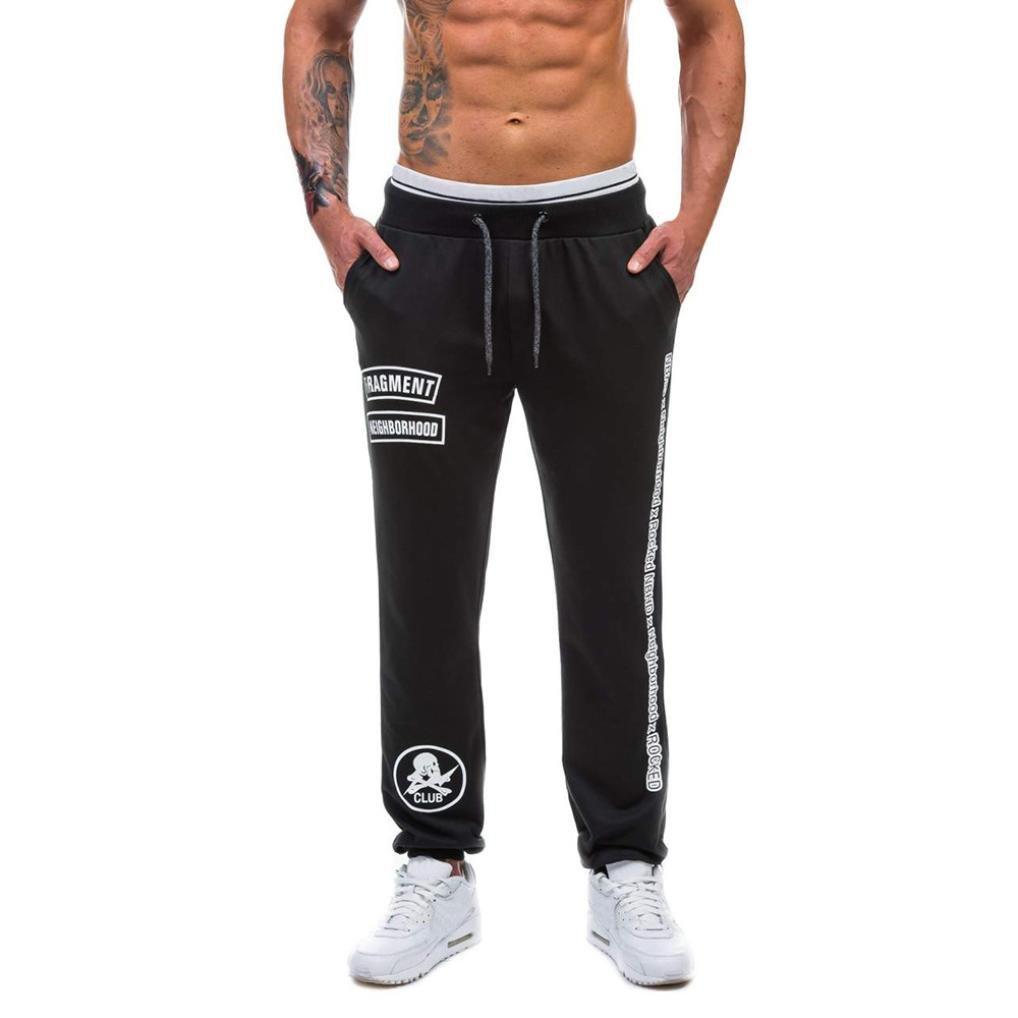 Todaies✈Clearance!Mens Casual Jogger Dance Pants Sportwear Baggy Harem Pants Slacks Trousers Sweatpants 3 Colors (XL, Black)