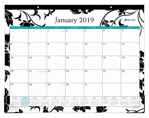 Blue Sky 2019 Monthly Desk Pad Calendar, Ruled Blocks, 22'' x 17'', Barcelona (100014-19) by Blue Sky