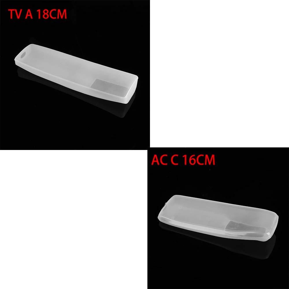 TV a Distancia Protectora de Silicona AC M 13CM 11 Tama/ño Anti-Polvo de v/ídeo de TV AC Evitar el Polvo Protege la Caja de Control Remoto almacenaje de la Cubierta de Silicona