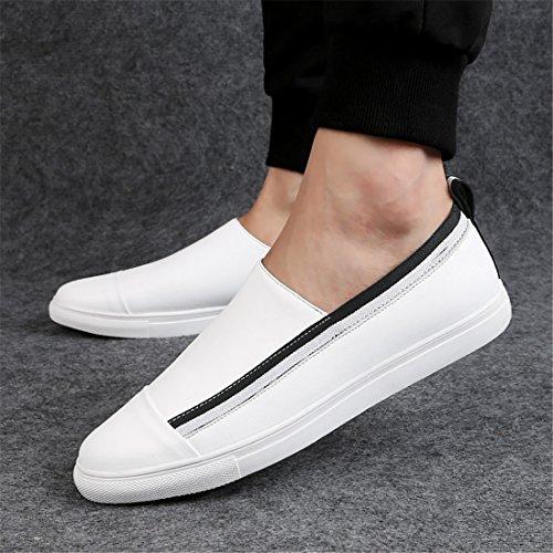 Heren Klassieke Casual Loafers - Mocassins Met Zachte Slip Op Schoenen L01 Wit