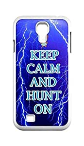 Cool Painting keep calm and hunt on Snap-on Hard Back Case Cover Shell for Samsung GALAXY S4 I9500 I9502 I9508 I959 -653