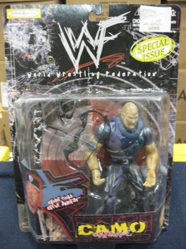 WWF / WWE - 1999 - Camo Carnage Series - Special Issue - RARE - Stone Cold Steve Austin Action Figure - w/ Amazing Accessories - Out of Production - New - Limited Edition - Collectible (Retired 1999 Edition)