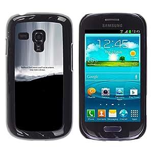KOKO CASE / Samsung Galaxy S3 MINI NOT REGULAR! I8190 I8190N / dolore qualcosa di speciale raggiungere vita preventivo / Delgado Negro Plástico caso cubierta Shell Armor Funda Case Cover