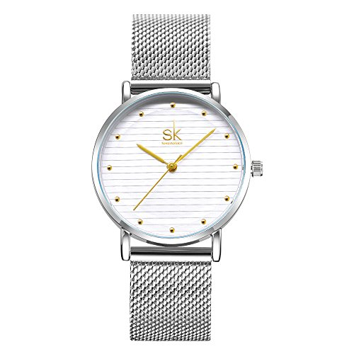 SK Simple Watches on Sale Analog Jewelry Watches for Women Stainless Steel Band (K0049-Gold) (Sale Deals)