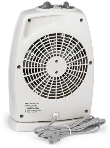 History About The Electric Fan : Holmes hfh u electric fan heater white