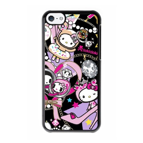 Coque,Coque iphone 5C Case Coque, Tokidoki Hello Kitty Cover For Coque iphone 5C Cell Phone Case Cover Noir