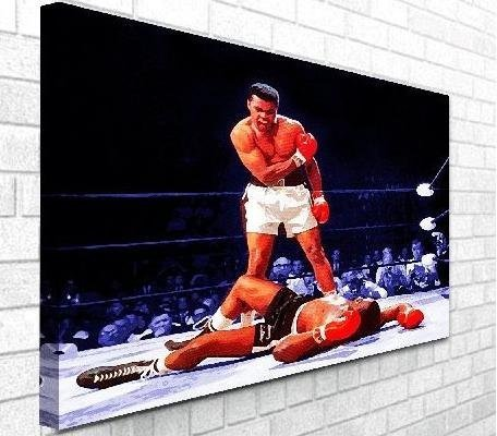 Muhammad Ali V Sonny Liston Boxing Canvas Print