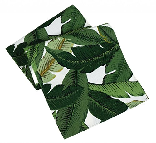 Table Runners 90 Inch x 15 Inch Table Runner Table Cover Green Swaying Palms Tommy Bahama Fabric]()