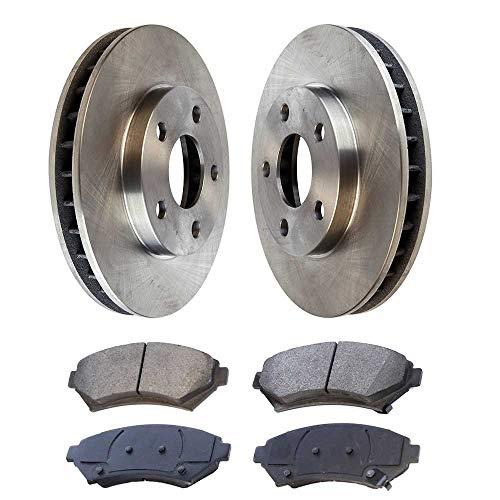 rts RSMK65038-65038-699-2-4 Set of 2 Premium Rotors & 4 Semi Metallic Pads ()