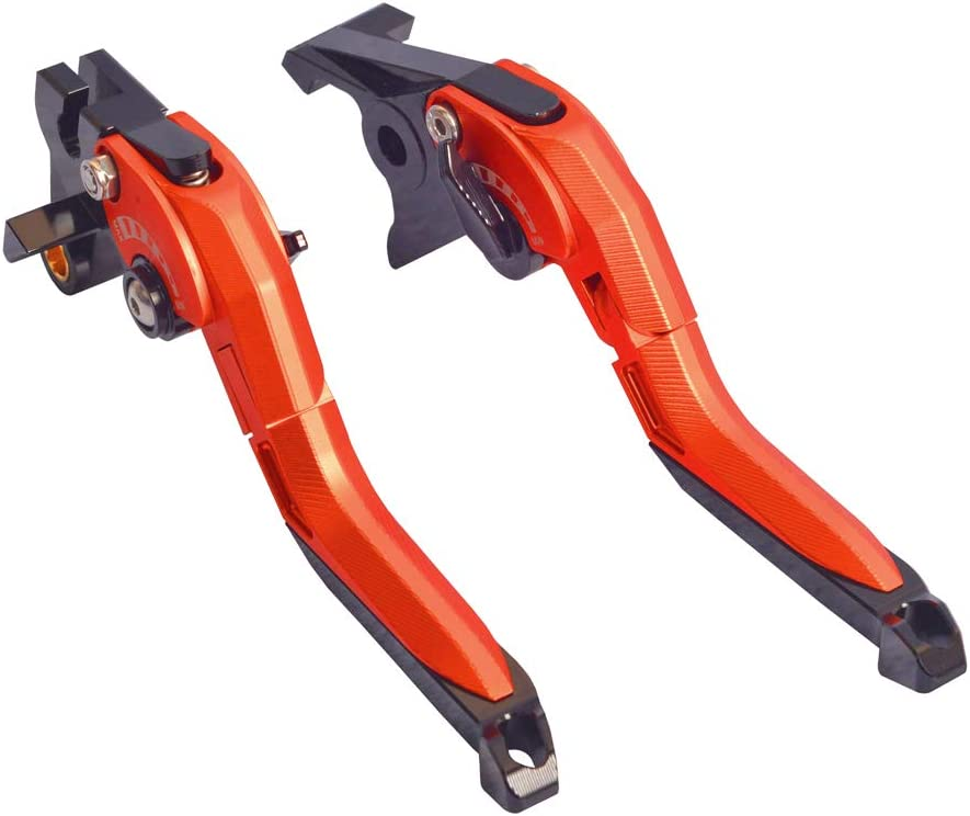 WildBee 5D Texture Mix Colors Red Grey Foldable Extendable Brake and Clutch Levers Compatible with Du-ca-ti MULTISTRADA 1200//1260//S//GT 2010-2018 STREETFIGHTER//S 2009-2013