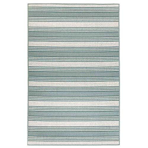 (Liora Manne RVI58764006 7640/06 Cool Riviera Casual Stripe Indoor/Outdoor Rug, 4'10