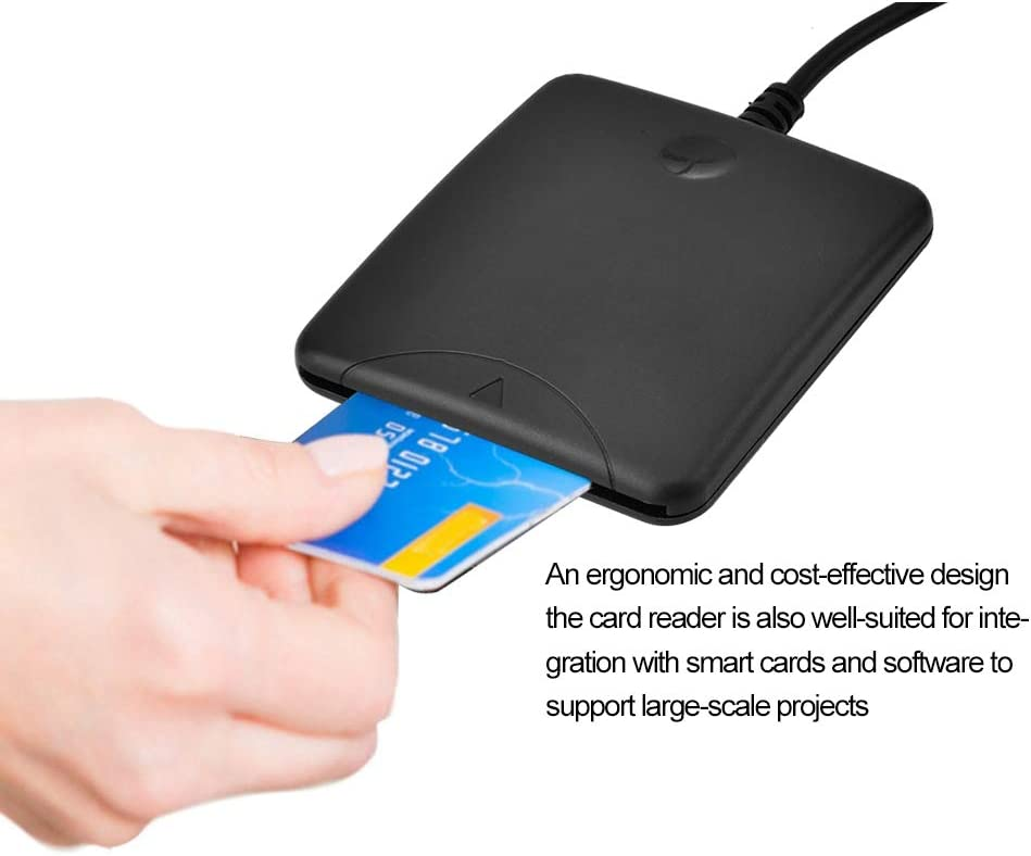 Smart Card Reader ID Card Reader Writer//IC Bank Card Reader /& SIM Card Reader Adapt for Government and Corporate Memory Card Reader Common Access Card Identification Adapter