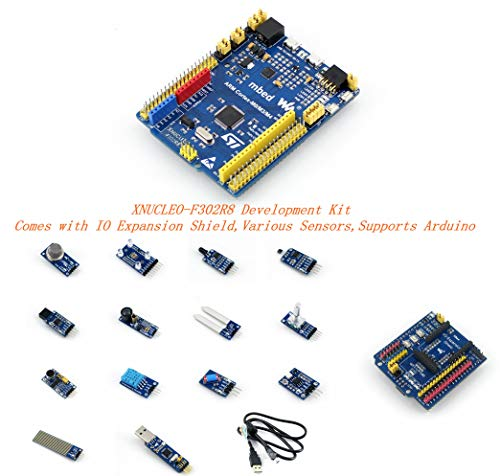 Venel Electronic Component, Xnucleo-F302R8 Package A Development Kit, Comes With IO Expansion Shield and Various Sensors, Compatible With Nucleo-F302R8, Onboard Cortex-M4 Microcontroller STM32F302R8T6 by Venel