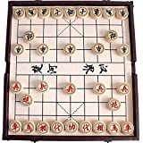 GoodPlay Chinese Chess Set Xiangqi in a Foldable Leather Box Travel Games Sets Board Games (Leather Box Color Random