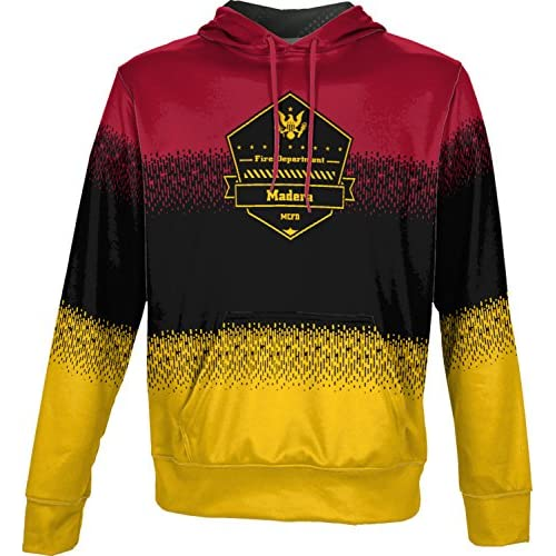 discount ProSphere Boys' Madera City Fire Department Drip Hoodie Sweatshirt (Apparel) get discount