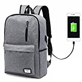 Laptop Backpack,Business Computer Backpack Men Women Lightweight Slim Travel College School Backpack Bags USB Charging Port Fits 15 inch Notebook...