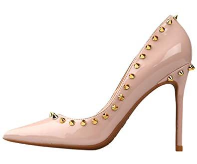 Chaussures Femme Escarpins Hooh Hauts À Talons Cloutés TlKF1Jc3