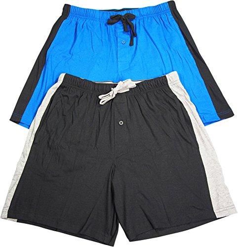 Jersey Striped Shorts (Hanes Mens Logo Waistband Striped Shorts 2-Pack)