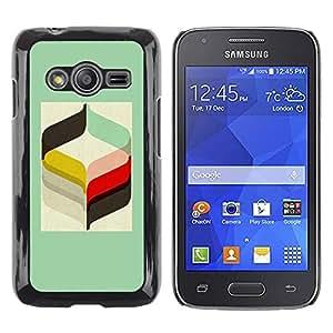 Be Good Phone Accessory // Dura Cáscara cubierta Protectora Caso Carcasa Funda de Protección para Samsung Galaxy Ace 4 G313 SM-G313F // Rye Minimalist Pattern Handlebar
