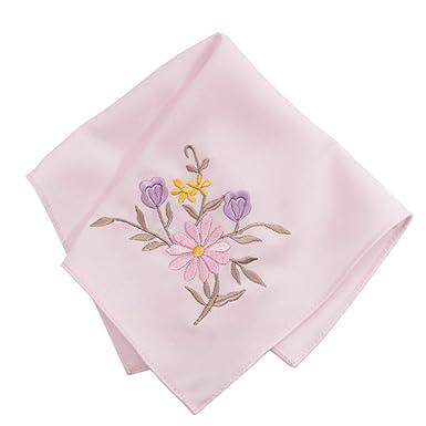 Pañuelo bordado para mujer, diseño floral, bordado ...