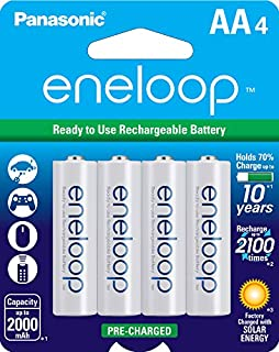 Panasonic BK-3MCCA4BA Eneloop AA 2100 Cycle Ni-MH Pre-Charged Rechargeable Batteries (Pack 4) - BK3MCCA4BF (B00JHKSN76) | Amazon Products