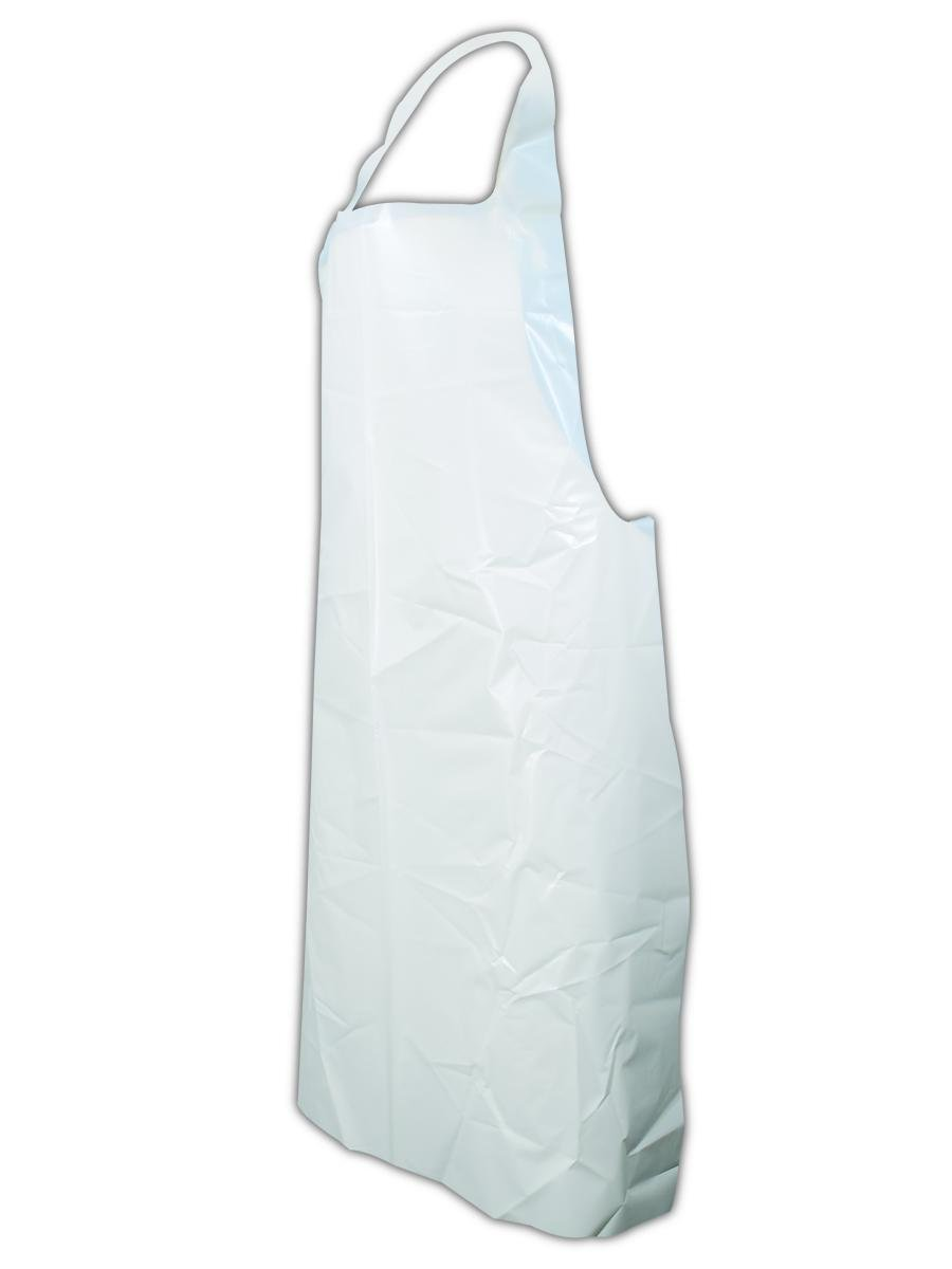 Ansell 105459 54-290 Disposable Polyethylene Apron, 0.09'' Height, 16'' Length, 5'' Wide, 28'' x 45'', White (Pack of 100)