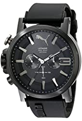 PUMA Men's PU103981001 Ultrasize Stainless Steel Left-Handed Watch