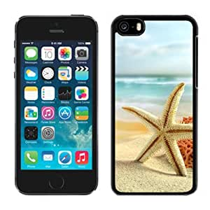 New Beautiful Custom Designed Cover Case For iPhone 5C With Starfish On The Beach Phone Case