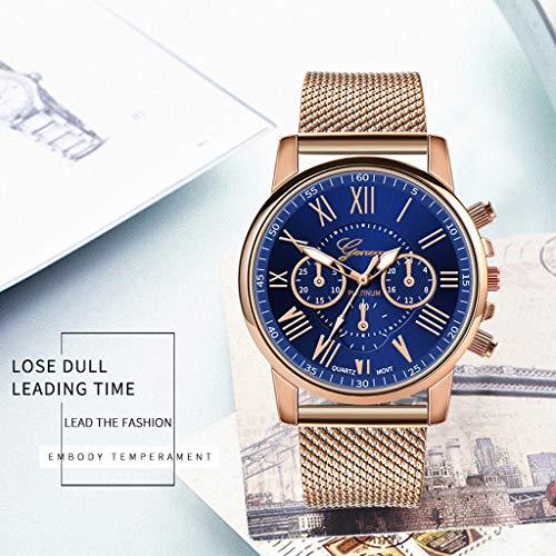 Pocciol Fashion Military Stainless Steel Quartz Watch Womens Casual Watch Luxury Analog Wristwatch (Blue) by Pocciol Cheap-Nice Watch (Image #1)