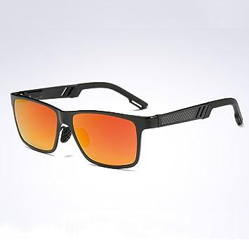 WYYY Gafas De Sol Gafas Gafas De Conducción Hombres Caja Cuadrada Aire Libre Clásico Luz Polarizada Protección Solar Anti-UVA Protección UV 100% (Color ...