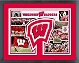 Wisconsin Badgers Photo Collage Matted & Framed 12.5'' x 15.5''