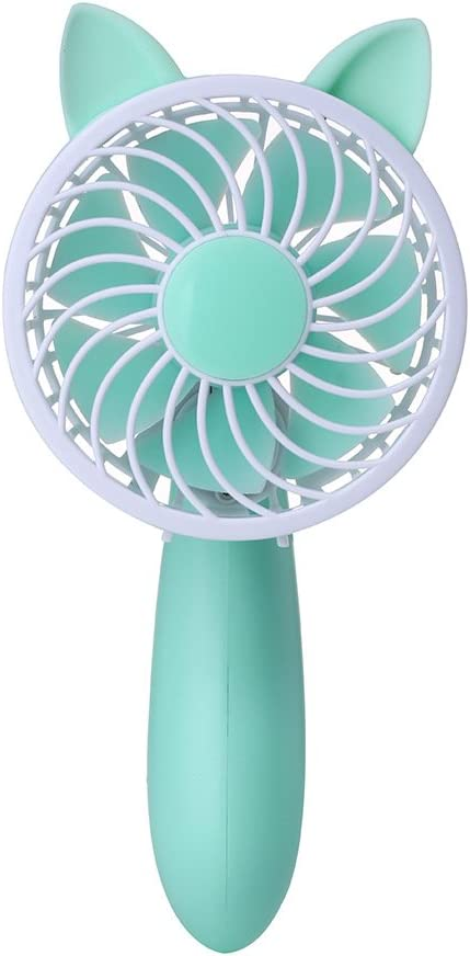 Blue GTVERNH Creative Fan Portable Usb Mini Handheld Fan Student Office Desktop Folding Fan