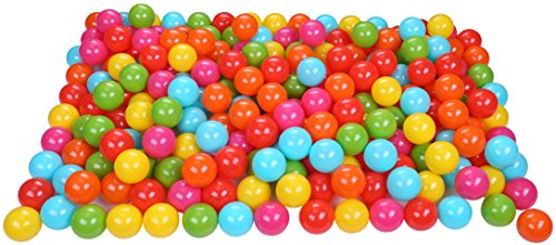 BalanceFrom 2.3-Inch Phthalate Free BPA Free Non-Toxic Crush Proof Play Balls Pit Balls- 6 Bright Colors in Reusable and Durable Storage Mesh Bag with Zipper, 200-Count