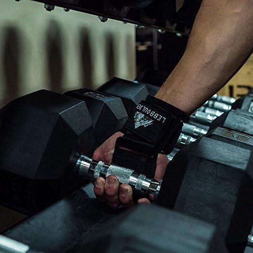 Ganchos para levantamiento de pesas como levantamiento de peso muerto y ejercicios de encogimiento de hombros Agarres para levantamiento de pesas con correas de neopreno acolchado para mu/ñecas Ganchos para entrenamiento en gimnasio