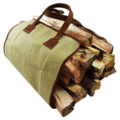 Hide & Drink Waterproof Waxed Canvas Fire Bag Handmade Swayze Suede