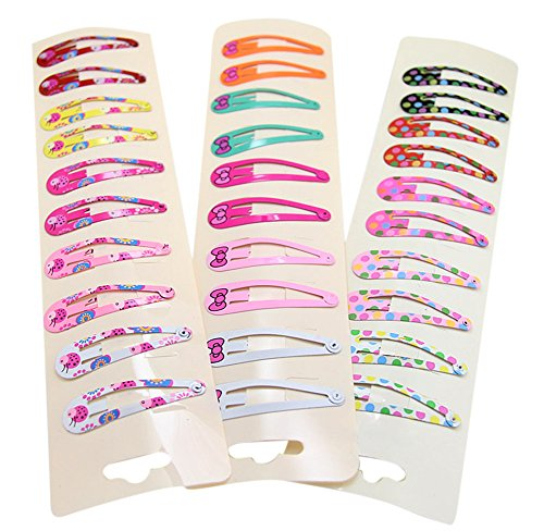 Healthy Clubs 10pcs Mixed Color Cute Baby Toddler Infant Girl Hair Clips Hairpin Barrette Hair Accessories