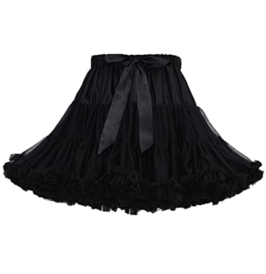 54592a6cf0 ISSHE Womens Ruffled Tulle Skirt Tutu Skirts Adult Ruffle Tiered Tutu Skirt  Petticoat Fluffy Layered Frilly Tulle Skirts Tutus Petticoats Ballerina  Puffy ...