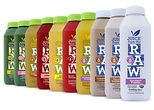 Juice From the RAW 5 Day ORGANIC Juice Cleanse n' Lunch - 20 bottles - FREE 2-Day Delivery