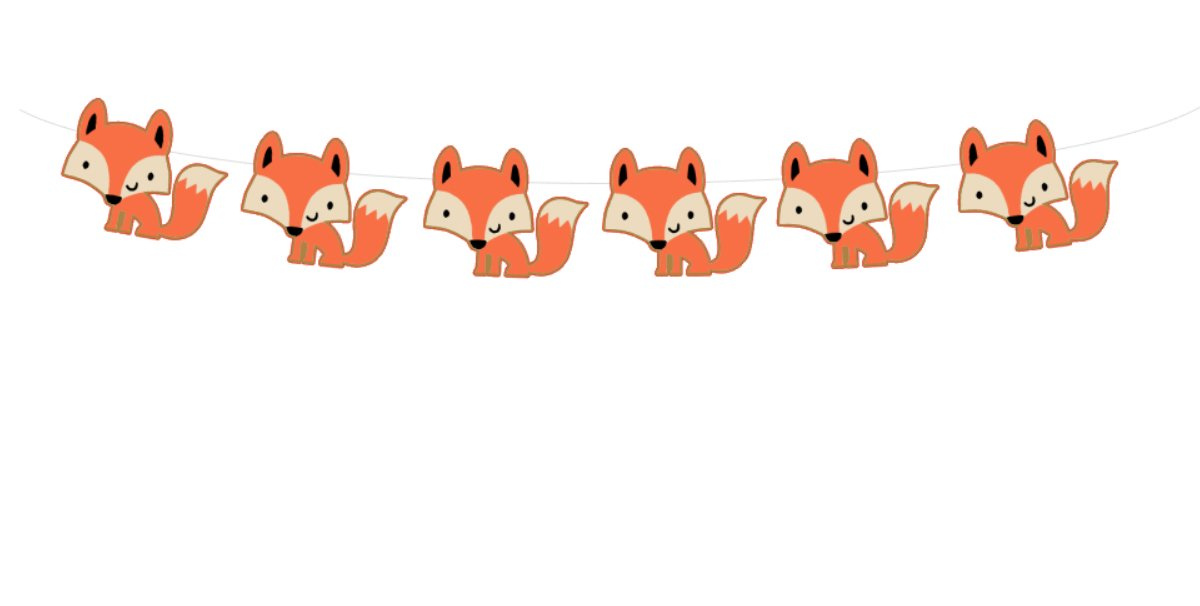 4'' TALL Fox Garland, Fox Banner, Woodland Banner, Woodland Garland, Woodland Baby Shower, Woodland Nursery, Woodland Decorations, Woodland Party Supplies, Forest Animals