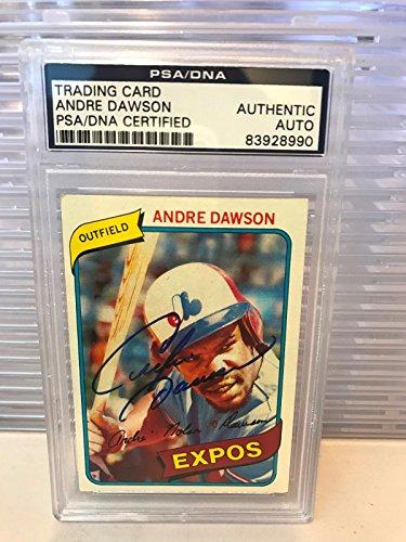 Andre Dawson Autographed Baseball (Andre Dawson Signed Autographed 1979 Topps Baseball Card PSA DNA COA)