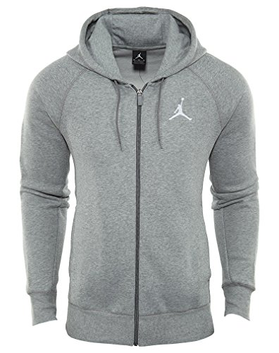 Jordan Air Jordan Flight Fleece Full‑Zip Basketball Hoodie (3XL, Dk Grey (Jordan Fleece Hoody)