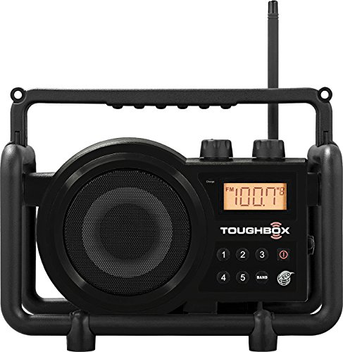 Sangean TB-100SE (Toughbox) AM/FM/AUX-In Ultra Rugged Digital PLL Tuning Rechargeable Radio (Black) Special Edition