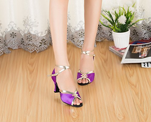 de bal Salle 7cm femme Miyoopark Heel Purple zq8n0w