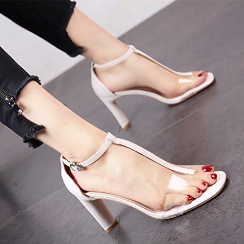 e6c15e2f El servicio durable YMFIE Lady Black Toe Toe sandalias de verano de estilo  europeo dedos cómodos