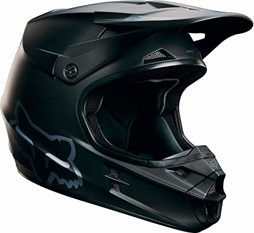 Small Helmet Race (FOX ADULT V1 RACE MX DIRTBIKE ATV UTV SXS HELMET MATTE FLAT BLACK XLARGE #15310-255-XL)
