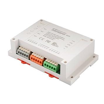 Sonoff 10A Conmutador Inteligente de Temporizador WiFi 4-Way Módulo de Socket de Energía Inalámbrico Domótica APP Control Remoto HS995: Amazon.es: Hogar