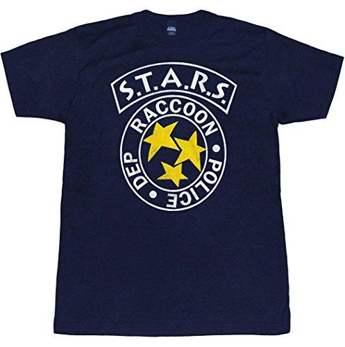 Animation Shops Resident Evil RPD Stars Raccoon City Police T-Shirt-X-Large Navy Blue