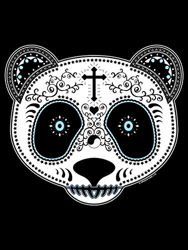 Borsa Messenger Teschio Di Zucchero Panda Schwarz 38x33x11cm