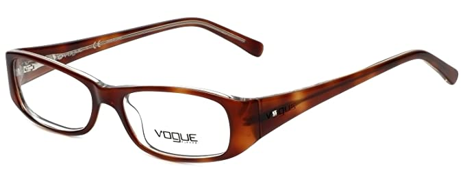 Amazon.com: Vogue Designer Eyeglass Frame VO2546B-1471 in Brown 49mm ...