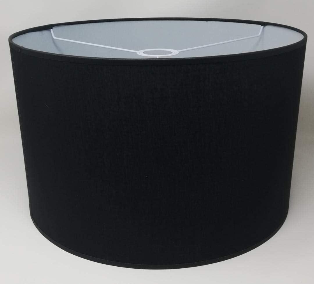 Tischleuchte Zylinder Lampenschirm Baumwolle Stoff handgefertigt f/ür Deckenleuchte Stehlampe Ocker, 50 cm Durchmesser 30 cm H/öhe